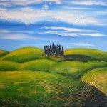 """Hills of Tuscany"", acrylics & mixed media on canvas, 60x80cm"