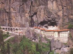 The Sumela Monastery, a Greek Orthodox monastery dedicated to the Virgin Mary at Melá mountain, in the region of Maçka in the Trabzon Province of modern TURKEY
