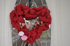 Valentines Day Heart Wreath  Valentines Day by CrazyCraftersFun