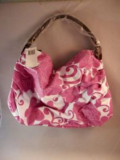 """Saks Fifth Avenue Large Floral Canvas Tote - Purple & White 14""""W 3""""D x 13""""H - Perfect for everyday wear, this tote bag is well made and brand new! Order today from #LadyLindasLoft on #eBay - http://www.ebay.com/itm/Saks-Fifth-Avenue-Large-Floral-Canvas-Tote-Handbag-Purple-White-14-W-3-D-x-13-H-/361017090277?pt=US_CSA_WH_Handbags&hash=item540e4ba0e5 #DesignerHandbag #SaksFifthAve #ToteBag"""