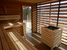 Wooden sauna by KWS Blinds, Divider, Spa, Curtains, Room, Furniture, Home Decor, Bedroom, Decoration Home