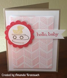 Embellished Events Hello Baby Girl card