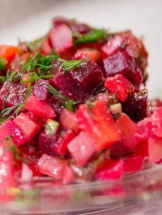 Salat Vinaigrette, rote Bete Salat Salat Vinegret - Салат Bинегрет - Russische Rezepte