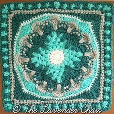 The Wallflower Mandala Square was created for the Mandala Blanket CAL by The Lavender Chair! The Mandala Blanket CAL has 20 unique squares Grannies Crochet, Crochet Afghans, Crochet Yarn, Crochet Stitches, Free Crochet, Crochet Blankets, Granny Square Häkelanleitung, Granny Squares, Crochet Squares Afghan