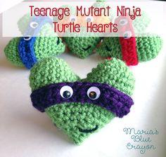 Teenage Mutant Ninja Turtle Hearts | Maria's Blue Crayon