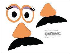 More free printable Toy Story photo booth props - Jessie, Woody, Mr. Potato Head, Mrs. Potato Head