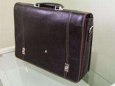 Maleta Pasta Mont Blanc Executiva Suitcase, Real Leather, Happiness, Mont Blanc, Briefcase