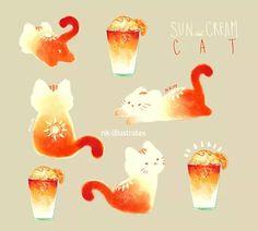 nk-illustrates cats tea