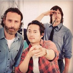 Image via We Heart It https://weheartit.com/entry/176513389 #normanreedus #thewalkingdead #andrewlincoln #twd #rickgrimes #daryldixon