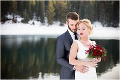 Winter Bridals | Tibble Fork Reservoir | Red Bouquet | Romantic Bridals | Winter Wedding | Bridal Photography | Bridals Photos | Bridal Photographer | Bride and Groom Photos | Tiffanie May Photography