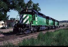 RailPictures.Net Photo: BN 7283 Burlington Northern Railroad EMD SD40-2 at Castle Rock, Colorado by Charles Stookey