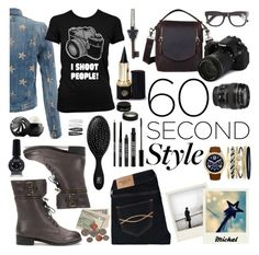 """""""Job Interview"""" by michal100-15-4 ❤ liked on Polyvore featuring Polaroid, Current/Elliott, Canon, Jessica Carlyle, Abercrombie & Fitch, RetroSuperFuture, Omerica Organic, Lord & Berry, The Wet Brush and Forever 21"""
