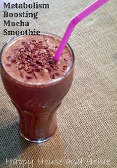 Metabolism Boosting Mocha Smoothie 1 Frozen banana 1/2 cup cold coffee 1/2 cup…