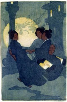 Bertha Lum Woodblock prints (Estampes) :: Fox Women