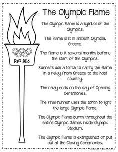 2016 Rio Summer Olympic PacketRio Summer Olympic Packet Kids Olympics, 2018 Winter Olympics, Special Olympics, Rio Olympics 2016, Olympic Games For Kids, Olympic Idea, Olympic Flame, Olympic Crafts, Winter Games