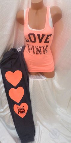 Victoria secret sweats and tank top Pink Outfits, Summer Outfits, Cute Outfits, Victoria Secret Outfits, Victoria Secret Pink, Pink Love, Vs Pink, Pink Nation, Dressing