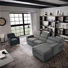 Come disporre i divani in salotto - Divano al lato della vetrata