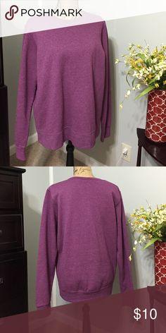 SALE! Purple sweatshirt Fruit of the Loom brand. Purple sweatshirt. Doesn't a fit like a XL Fruit of the Loom Jackets & Coats