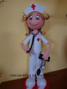 Para las que querais hacer una fofucha enfermera , aquí os dejo los patrones de la mía.  DIN-A4  Muchas gracias  por vuestros comentarios  ...