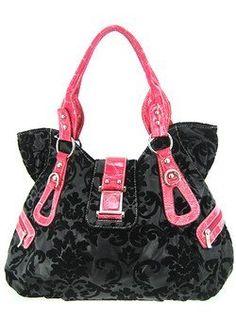 7640438062e5c pink and black coach purse