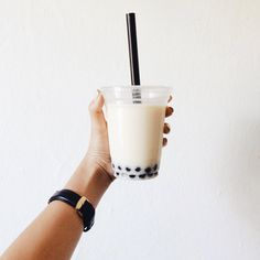 coconut boba drink tapioca pearls beverage tumble aesthetic