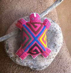 Lavender Filled Pink Mola Travel Turtle  - A Sweet One! by molamama, $13.50