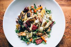 Roasted Vegetable and Pearl Barley Salad. Cook with Campbell's collaboration with Kelsey Boyte @ Happyolks. http://www.happyolks.com/campbells-summer-sides/