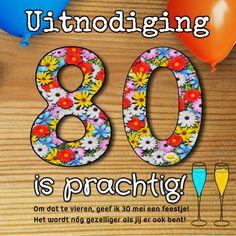 24 Beste Afbeeldingen Van 80 Jaar Verjaardag Uitnodigingen