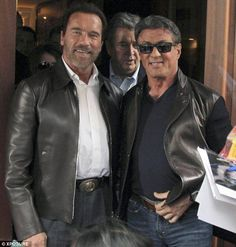 With Arnold Schwarzenegger