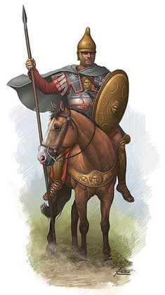 Macedonian cavalry by Angel Garcia Pinto. Classical Greece, Classical Antiquity, European History, Ancient History, Greek Soldier, Punic Wars, Roman Warriors, Greek Warrior, Roman Era