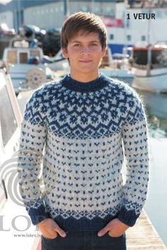 c8ae15f5cc Icelandic Vetur (Winter) Mens Wool Sweater Blue - Tailor Made - Nordic Store