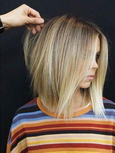 Top 20 Spring Highlight Ideas for Short Hair 2018 - Schulterlange Haare Ideen Medium Hair Styles, Curly Hair Styles, Trending Hairstyles, Spring Hairstyles, Great Hair, Hair Day, Hair Looks, Short Hair Cuts, Hair Lengths