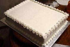 simple elegant engagement sheet cakes - Google Search