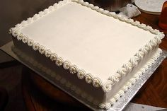simple elegant engagement sheet cakes - Google Search
