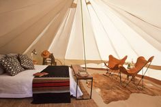 "Shelter Co. This new California-based ""glamping"" outfitter completely re-imagines the camping experience. My kind of camping. Luxury Tents, Luxury Camping, Glam Camping, Camping Wedding, Camping Rules, Family Camping, Europa Camping, Outdoor Spaces, Outdoor Living"