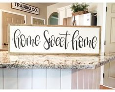 Sweet home Style - Home Sweet Home Sign LARGE Framed Sign Fixer Upper Style Farmhouse Sign Hand Painted Sign Personalized Sign. Home Decor Signs, Diy Signs, Diy Home Decor, Decor Crafts, Wood Crafts, Home Decoration, Sweet Home, Farmhouse Signs, Farmhouse Decor