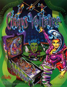Cirqus Voltaire Pinball Game Flyer 1997 Original NOS Ready To Frame Artwork Sheet Bally Arcade Art Double Sided Circus Fantasy Pop Culture Flipper Pinball, Pinball Wizard, Siouxsie & The Banshees, Color Games, Sale Flyer, Game Item, Arcade Games, Pinball Games, Vintage Paper