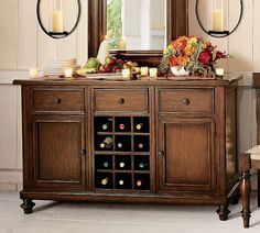 Montego Wine Buffet- too bad it's discontinued :( Modern Buffet, Modern Decor, Sideboard With Wine Rack, Wine Buffet, Decorating Your Home, Interior Decorating, Liquor Cabinet, Home Furniture, New Homes