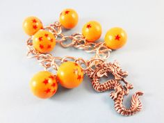 [Dragon Ball Z] Dragon Balls Polymer Clay Charm Bracelet