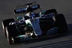 Valtteri Bottas driving the (77) Mercedes AMG Petronas F1 Team Mercedes F1 WO8 on track during day three of Formula One winter testing at Circuit de Catalunya on March 9, 2017 in Montmelo, Spain.