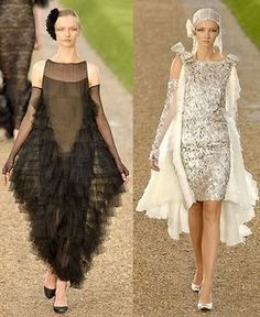 (right) Valentino Haute Couture Paris S/S '07