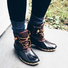 sperry duck boots outfits - Google Search