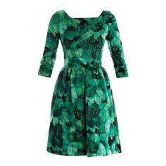 BALENCIAGA FLORAL JACQUARD FULL-SKIRT DRESS
