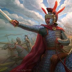 Cataphract officer, Late Roman Empire