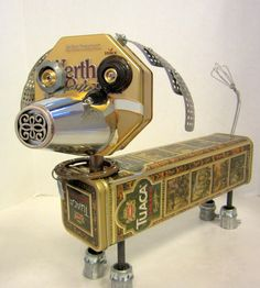 Otto Bot  found object robot sculpture assemblage by ckudja, $100.00