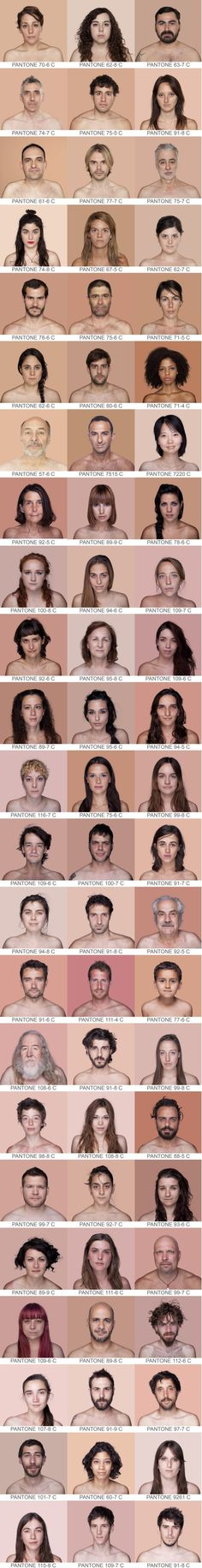 """""""PANTONE® Humano"""" I have no idea what they are trying to sell here. Does that the require the subjects to be, basically, topless? Pantone, Third Culture Kid, Vader Star Wars, Color Swatches, My Favorite Color, Portrait, Hair Color, Graphic Design, Photography"""
