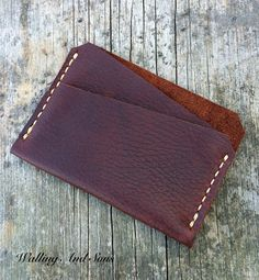 Slim mens wallet Leather wallet