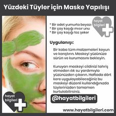 Facial Mask- Yüzdeki Tüylere Maske suggestions for face hair today care - Skin Care Acne, Skin Care Tips, Beauty Care, Beauty Skin, Face Beauty, Beauty Tips, Natural Hair Conditioner, Hair Care Oil, Hair Protein
