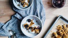 blackberry verbena jam + oat cluster sundaes