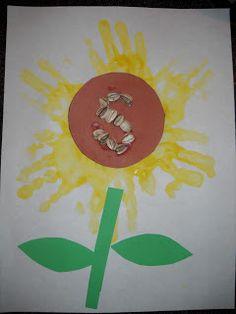 S for Sunflower alphabet craft